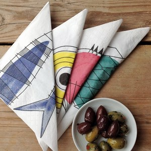 picknick design paper napkins in a vintage swedish print by Marianne Westman