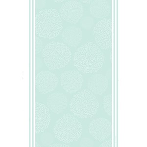 asha patterned tea towel has a design of trees made by white dots on a duck egg blue background