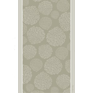 asha patterned tea towel has a design of trees made by white dots on a grey background