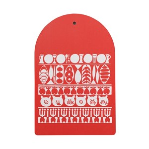 Jul red and white veneer swedish chopping board for kitchen