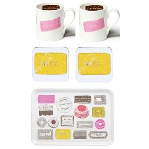 family favourites mug, coaster and tray gift set