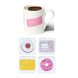 family favourites biscuit mug and coaster gift set by charlotte farmer