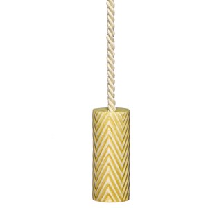 herringbone bone china blind pull - colombia yellow