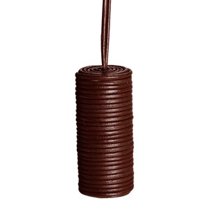 leather cylinder blind pull -  brown