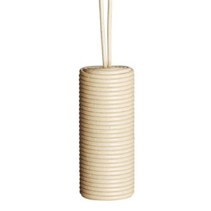 leather cylinder blind pull -  cream