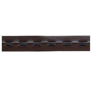 leather trim -  brown