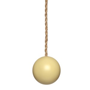 chartreuse wood ball window roller blind pull or acorn with jute cord