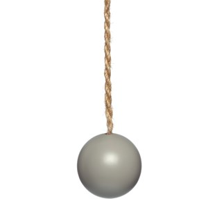 puddle grey wood ball window roller blind pull or acorn with jute cord