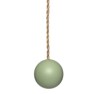 sage green wood ball window roller blind pull or acorn with jute cord