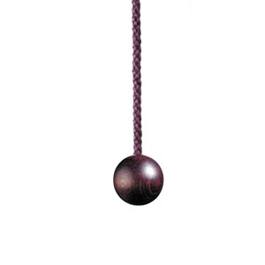 wooden ball 25mm small light pull - mulberry