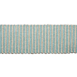 pastille stripe in silver frost woven trimming is a delicate striped pastel braiding