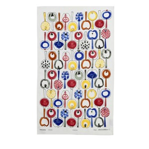 colourful pomona kitchen tea towel by Marianne Westman featuring apples