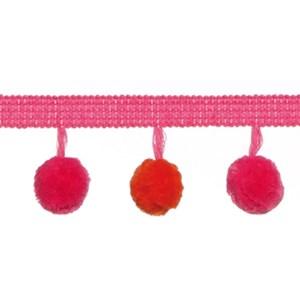 tangerine and hot pink pom pom braid a decorative modern contemporary interior trimming