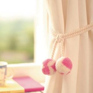 punk-skunk wool tieback - bubblegum pink