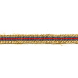 blue and red striped rio braid, a decorative woven interior trimming in jute