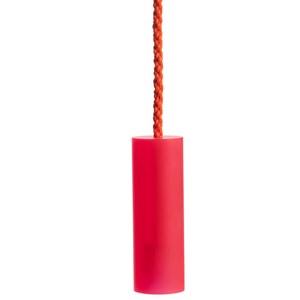 sandblasted acrylic light pull - red