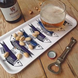 swedish fish drinks tray