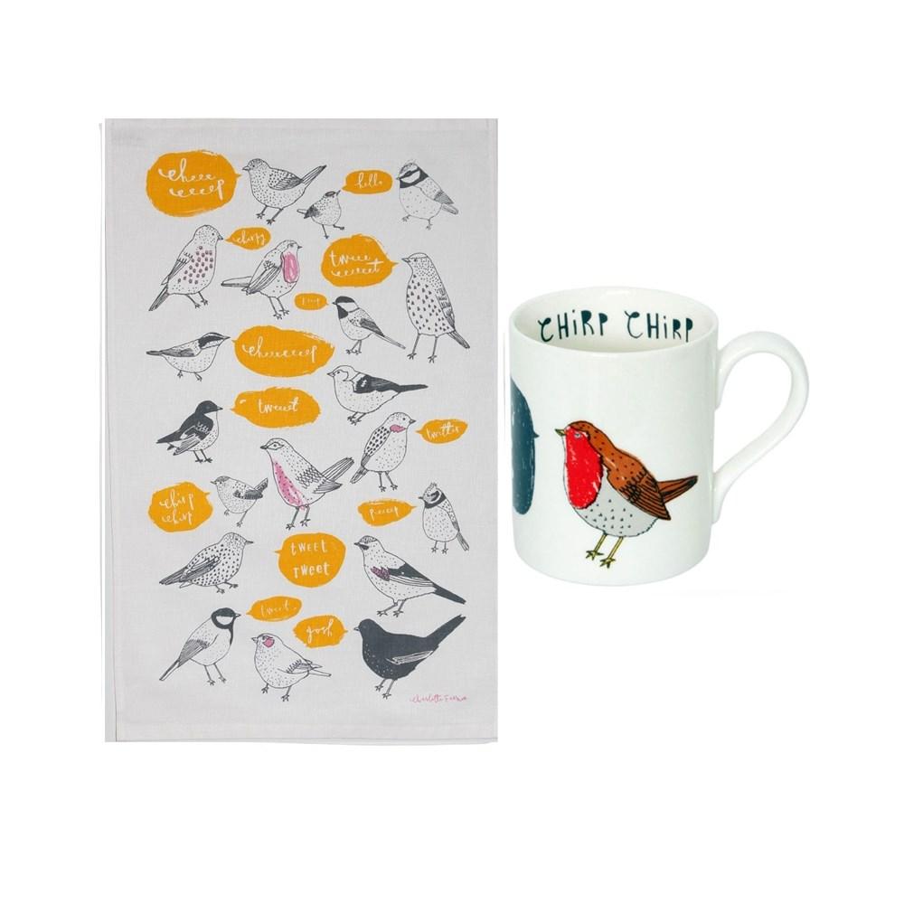 Chirp Mug Tweeet Tea Towel Gift Set