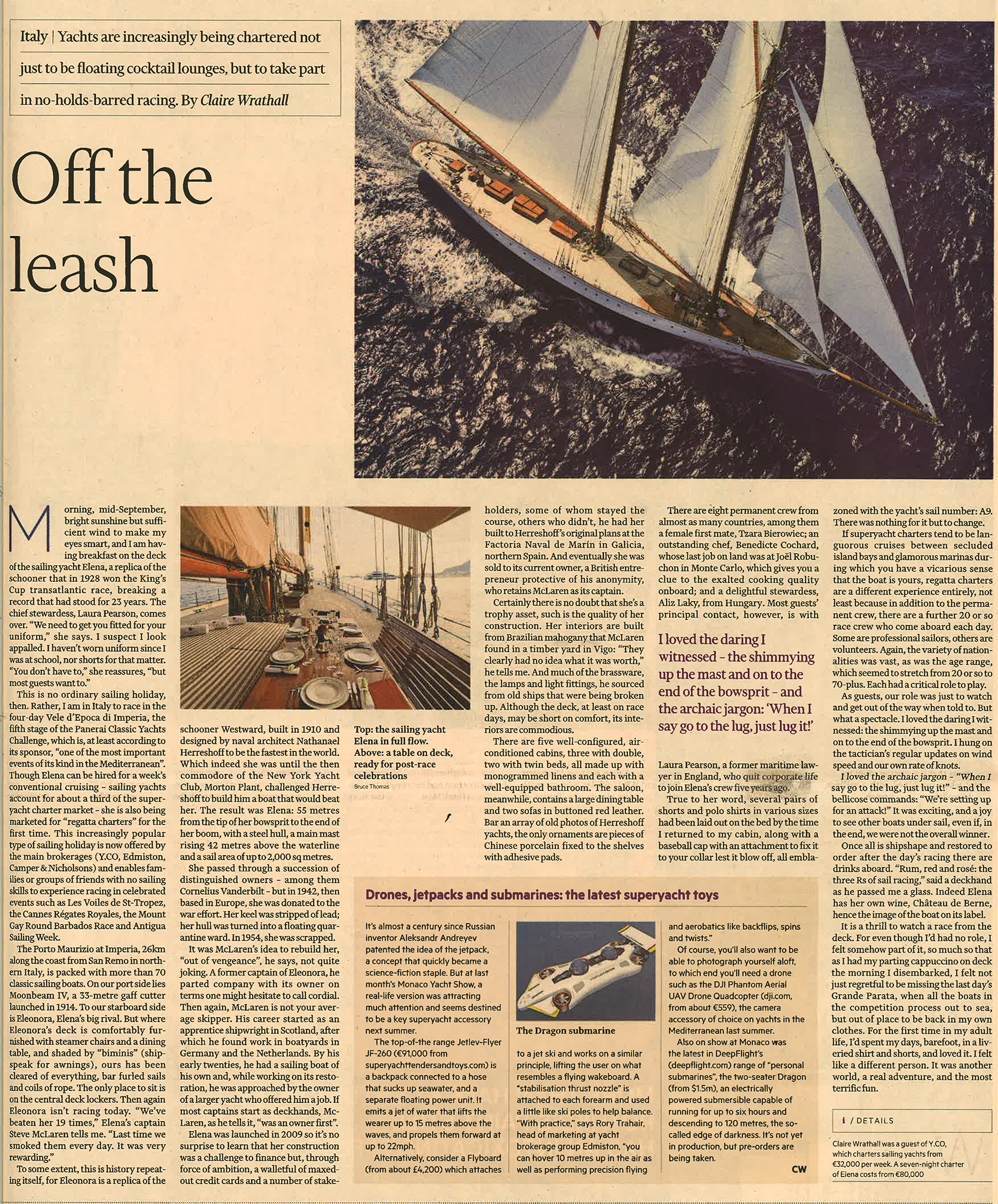 Elena feature - Financial Times 2014