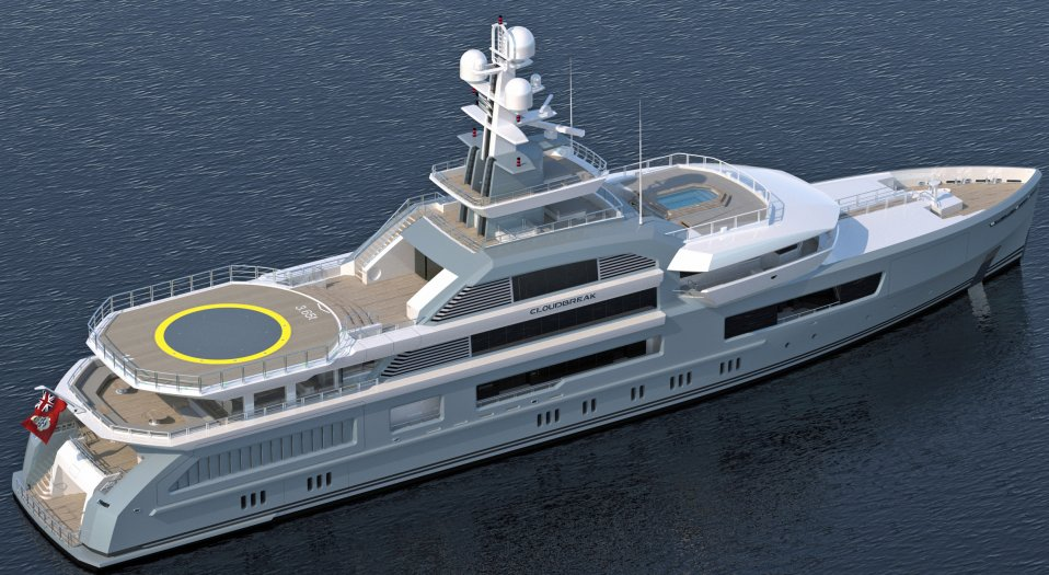 Cloudbreak luxury explorer yacht for charter y