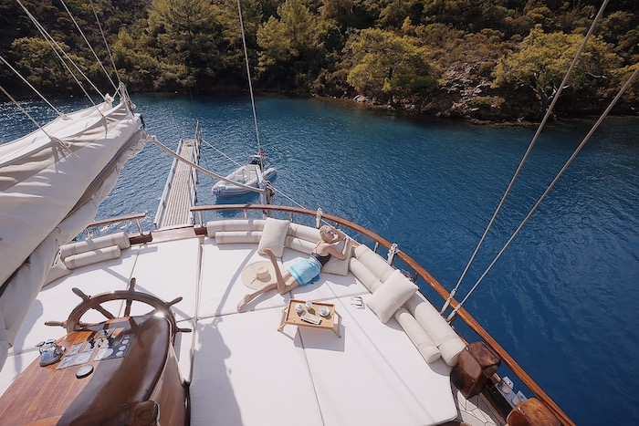 Blue cruise in gulet holidays in Turkey.