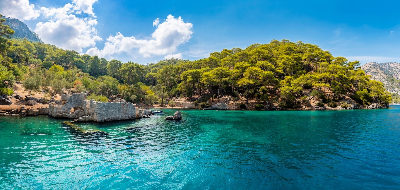 One of the most beautiful beaches in Turkey, Hamam bay (Gulf of Gocek)