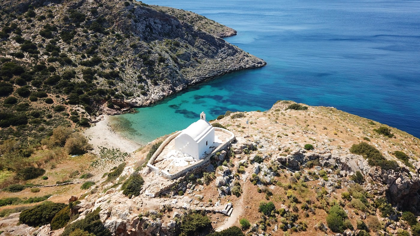 Hermitage of Agios Stefanos on the island of Syros (Cyclades).