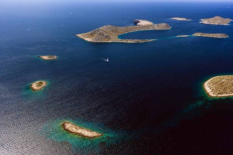 Sailing the Kornati Islands (Croatia).