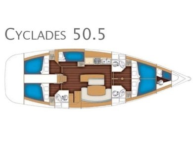 Charter sailboat Cyclades 50.5 in Athens - Attica