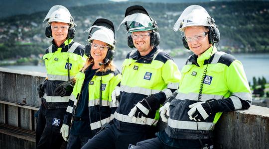 Yara employees being safe in Porsgrunn