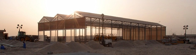 Construction of Sahara Forest project facility