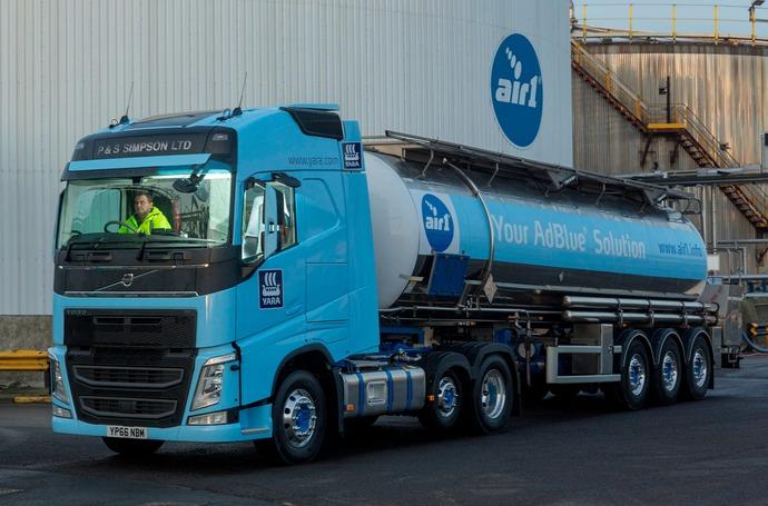 A Yara AdBlue truck