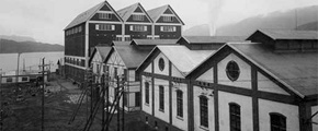 Factory buildings at Notodden 1907