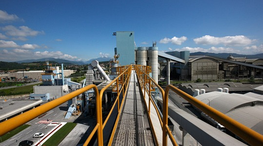 Cement plant view