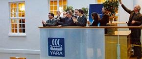 Yara stock listing, Oslo stock market