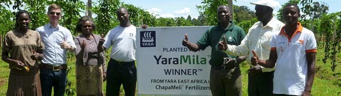 Kenyan smallholder farmers - YaraMila Winner