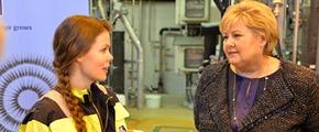 Prime Minister visits Yara Porsgrunn