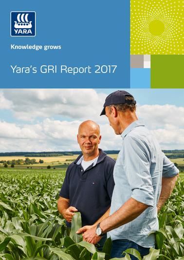 Front cover of Yara's GRI Report 2017