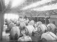 Interior of of of the original factories at Rjukan