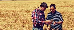 farmers Thomas Kläber and Jürgen Rickmann