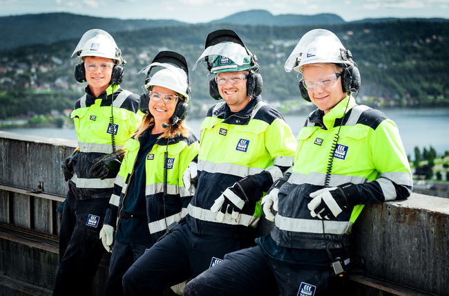 Yara employees being safe in Porsgrunn