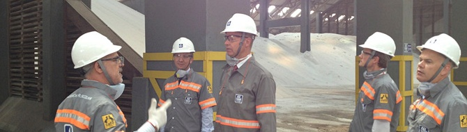 Jørgen Haslestad visits one of Yara's facilities in Brazil