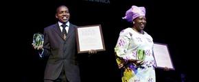 Victor Mfinanga and Florence Wambugu