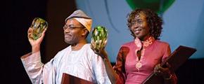 Akinwumi Adesina and Josephine Okot