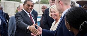 Tanzania's president and Yara's CEO