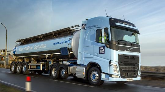 Yara AdBlue tanker lorry