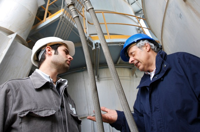Client interaction in a cement plant
