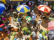 Colourful African market