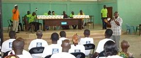 training farmers in Ghana