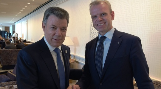 Colombian president meets Yara CEO